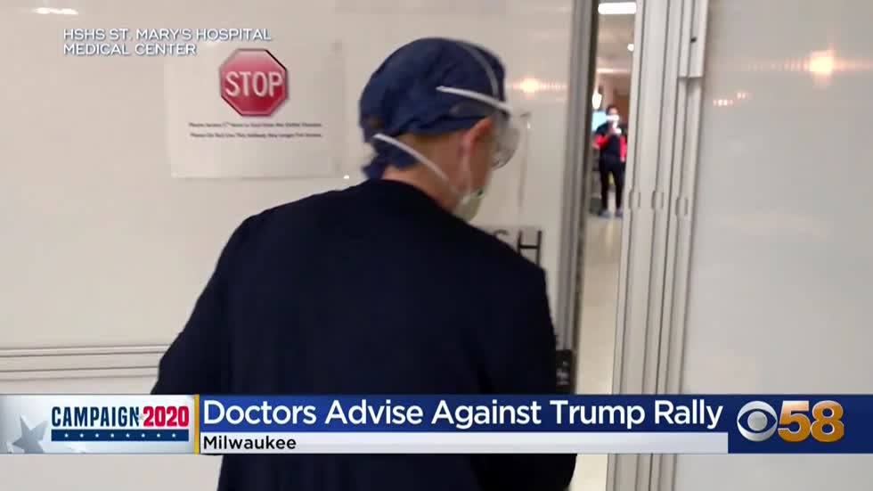 Doctors send letter to Pres. Trump urging him to cancel Wisconsin...